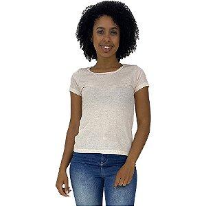 Camiseta Babylook Canelada KM MXD Conceito Pérola