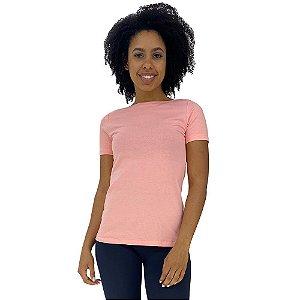 Camiseta Babylook gola Canoa KM MXD Conceito Rosa Bebê