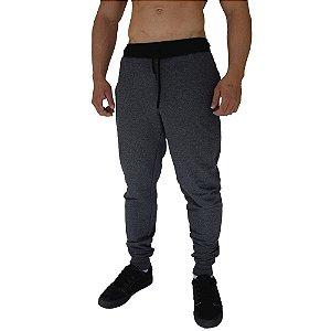 Calça Masculina Plus Size Moletom MXD Conceito Mescla Preto