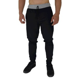 Calça Masculina Plus Size Moletom MXD Conceito Preto