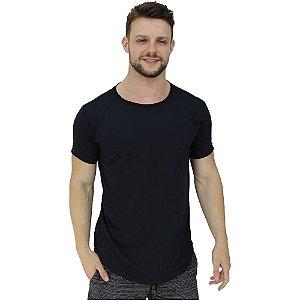 Camiseta Longline Malha PV Poliviscose Masculina MXD Conceito Preto Básico