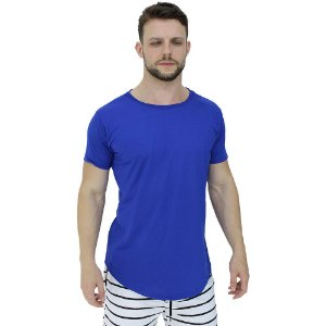 Camiseta Longline Malha PV Poliviscose Masculina MXD Conceito Azul