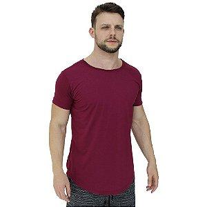 Camiseta Longline Viscolycra Masculina MXD Conceito Bordô