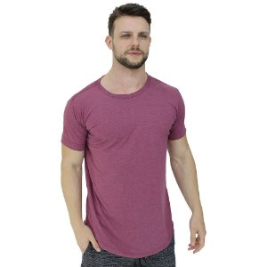 Camiseta Longline Malha PV Poliviscose Masculina MXD Conceito Mescla Vermelho