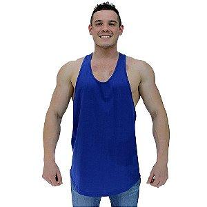 Regata Super Cavada Masculina MXD Conceito Azul Lisa