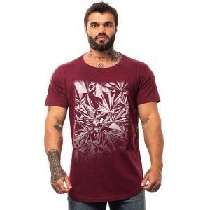 Camiseta Longline Masculina MXD Conceito Limitada Diamantes Efeito