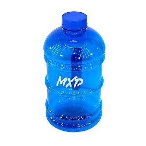 Galão de Água 2 Litros Academia com Alça MXD Conceito Azul Translúcido