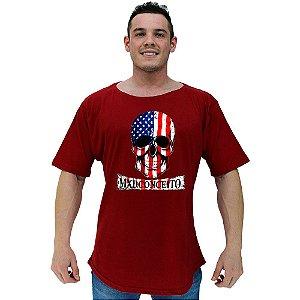 Camiseta Morcegão Masculina MXD Conceito Caveira Americana