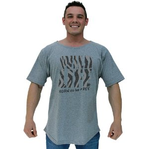 Camiseta Morcegão Masculina MXD Conceito Wild Life Born To Be Free