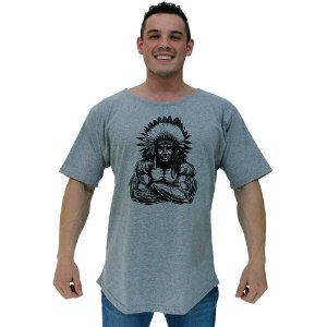 Camiseta Morcegão Masculina MXD Conceito Índio Musculoso