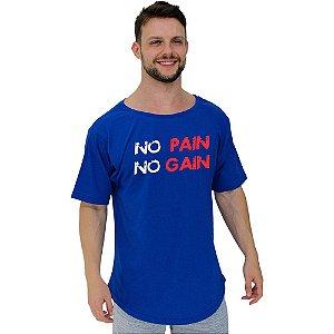 Camiseta Morcegão Masculina MXD Conceito No Pain No Gain Letreiro
