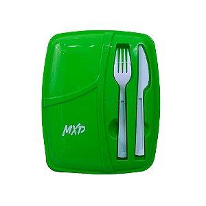 Marmita Plástica Três Compartimentos MXD Conceito Verde