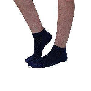 Meia Cano Curto Modelo Sapatilha Azul Escuro Feminino Tamanho 35 ao 39