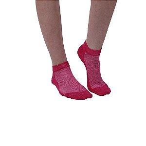 Meia Cano Curto Modelo Sapatilha Rosa Pink Feminino Tamanho 35 ao 39