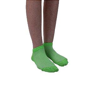 Meia Cano Curto Modelo Sapatilha Verde Limão Feminino Tamanho 35 ao 39