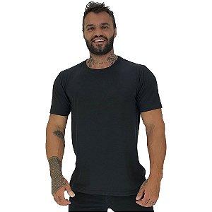 Camiseta Plus Size Tradicional Manga Curta MXD Conceito Preto