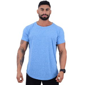 Camiseta Longline BENETTON Masculina MXD Conceito Azul Bebê