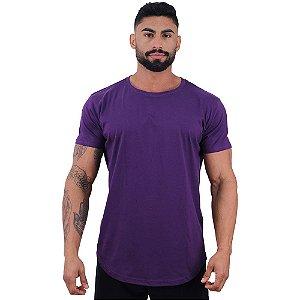 Camiseta Longline Masculina MXD Conceito Roxo