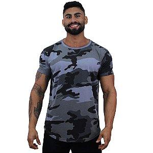 Camiseta Longline Malha PV Poliviscose Masculina MXD Conceito Camuflado Cinza