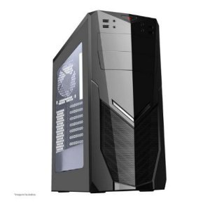 GAB. BRAZIL PC GAMER 7025BB BLACK S/ FONTE/1XUSB3.0/2XUSB2.0/LATERAL SEMI ABERTO BOX