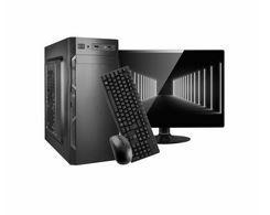 """MICRO COMPUTADOR I3 2100, 4GB MEMÓRIA, SSD 120,TECLADO, MOUSE, CAIXA DE SOM, MONITOR 20"""" BRAZILPC, WINDOWS 10 HOME"""