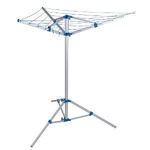 Varal Parabolico Movel c/pé MOR Alum