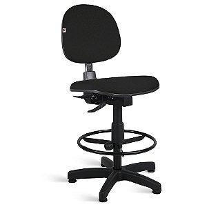 Cadeira Caixa Executiva Back System Tecido Preto