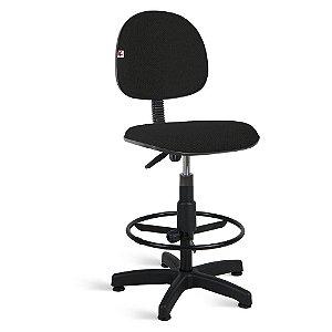 Cadeira Caixa Executiva Tecido Preto