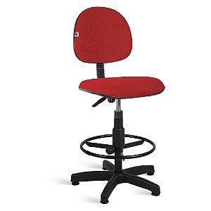Cadeira Caixa Executiva Tecido Vermelho