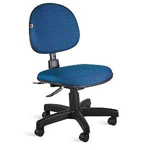 Cadeira Executiva Back System Tecido Azul Com Preto