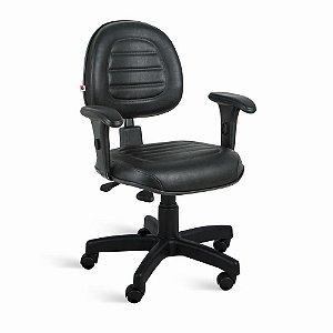 Cadeira Executiva Back System Braços Couríssimo Preto Ônix