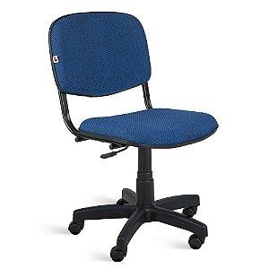 Cadeira Executiva Giratória Tecido Azul Com Preto Quartzo