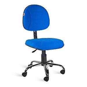Cadeira Executiva Giratória Tecido Azul Titânio