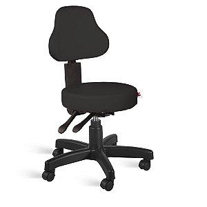 Cadeira Mocho Encosto Alto Back System Couríssimo Preto