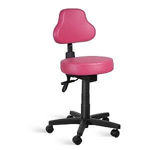 Cadeira Mocho Encosto Alto Back System Couríssimo Rosa