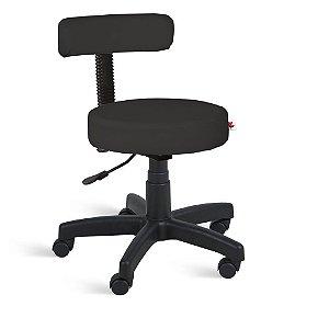 Cadeira Mocho Giratória Couríssimo Preto