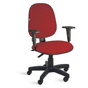 Cadeira Gerente Back System Braços Tecido Vermelho