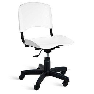 Cadeira Plástica Giratória A/E Branco Lara