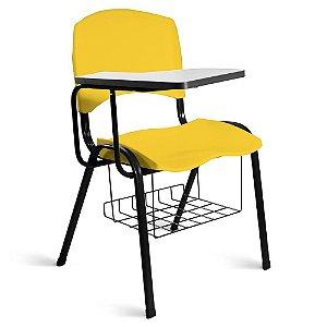 Cadeira Plástica Universitária A/E Amarelo Lara