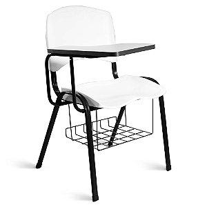 Cadeira Plástica Universitária A/E Branco Lara