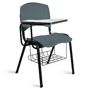 Cadeira Plástica Universitária A/E Cinza Lara