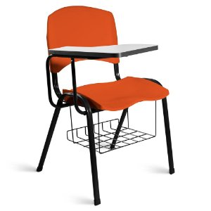 Cadeira Plástica Universitária A/E Laranja Lara