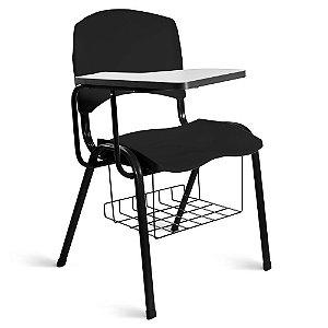 Cadeira Plástica Universitária A/E Preto Lara