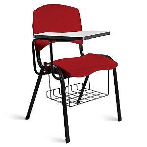Cadeira Plástica Universitária A/E Vermelho Lara