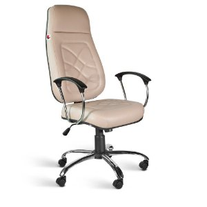 Cadeira Presidente Extra Relax Braços Couríss Bege Turmalina