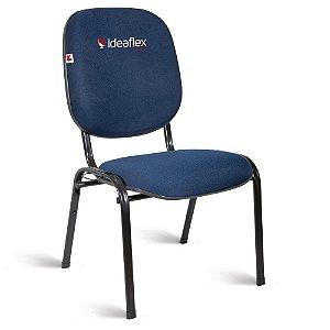 Cadeira Diretor Pé Palito Tecido Azul Azurita