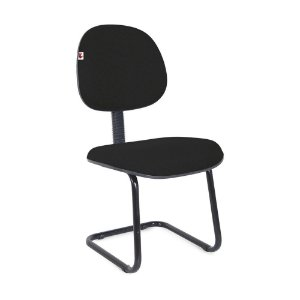 Cadeira Executiva Pé Contínuo Tecido Preto
