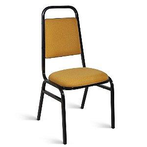 Cadeira Executiva Pé Palito Tecido Amarelo Alexandrita