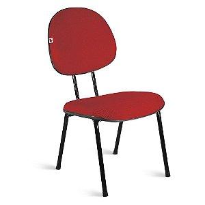 Cadeira Executiva Pé Palito Tecido Vermelho