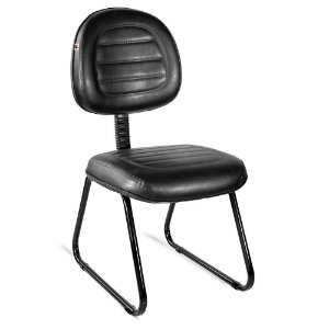 Cadeira Executiva Pé Sky Couríssimo Preto Ônix